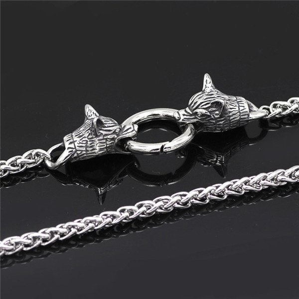 Viking Odin Celtic Wolf head necklace