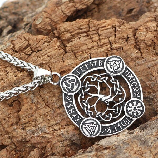 Norse viking tree of life pendant necklace
