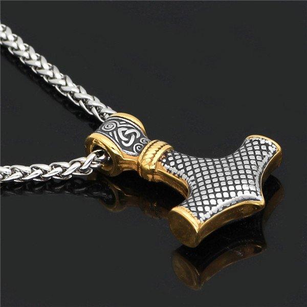 Odin thor hammer pendant necklace