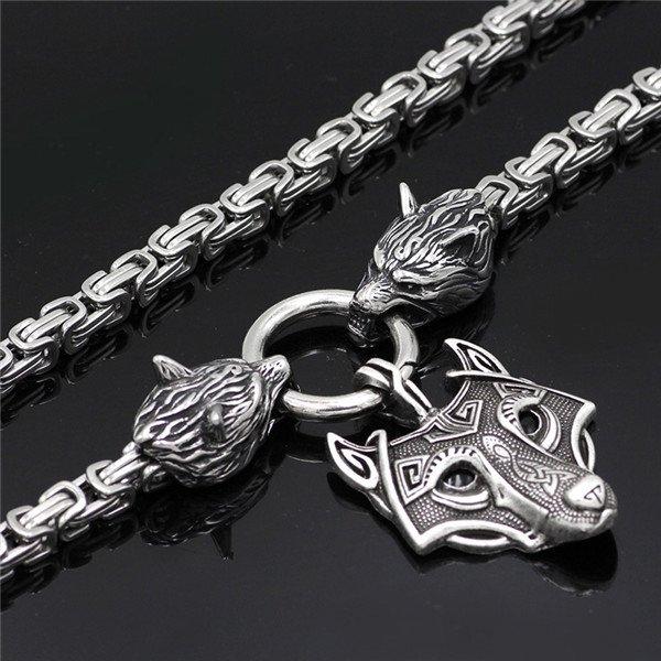 Odin Wolf pendant necklace