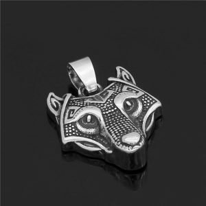 Nordic Viking wolf pendant necklace
