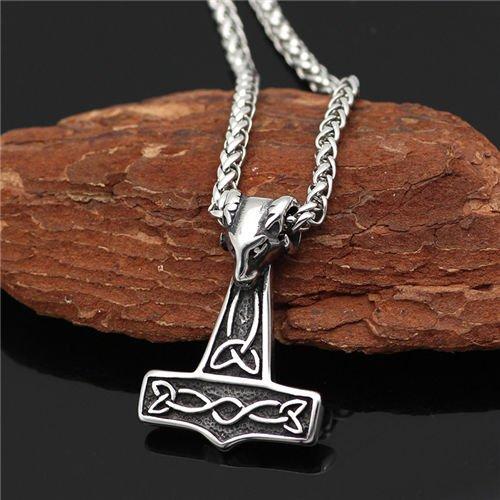 Viking Celtic thor hammer pendant necklace