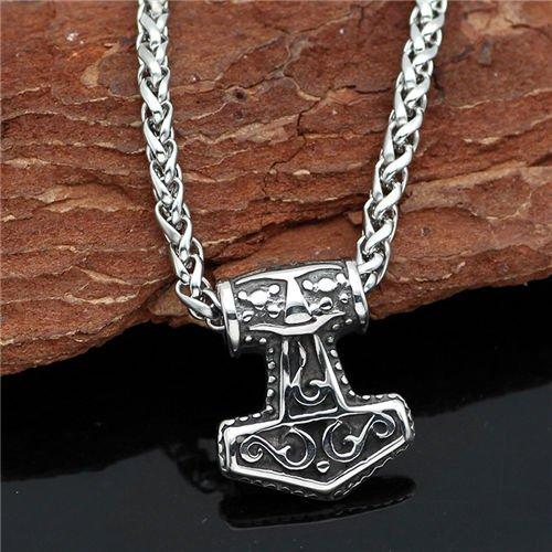Viking thor Hammer mjolnir Pendant Necklace