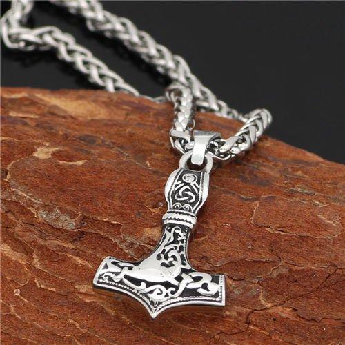 Viking thor hammer Mjolnir necklace
