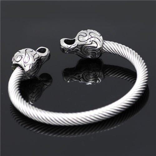 Viking vintage fenrir bracelet