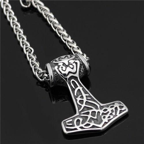 thor hammer Mjolnir pendant necklace