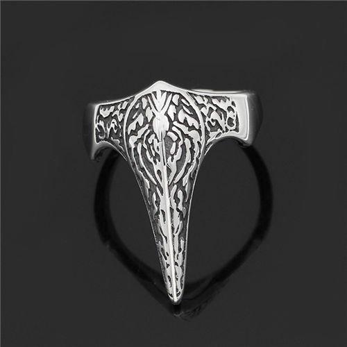 Viking Odin raven retro ring