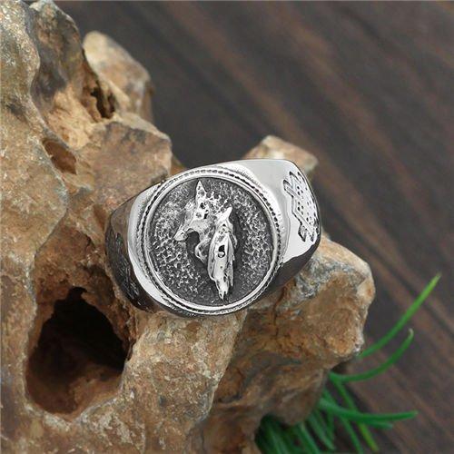 Viking men wolf ring