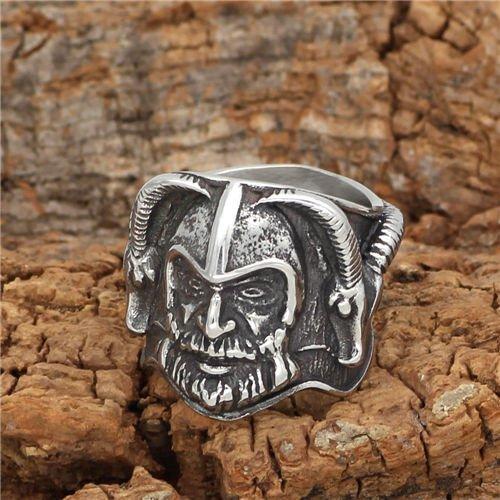 Viking Odin stainless steel ring