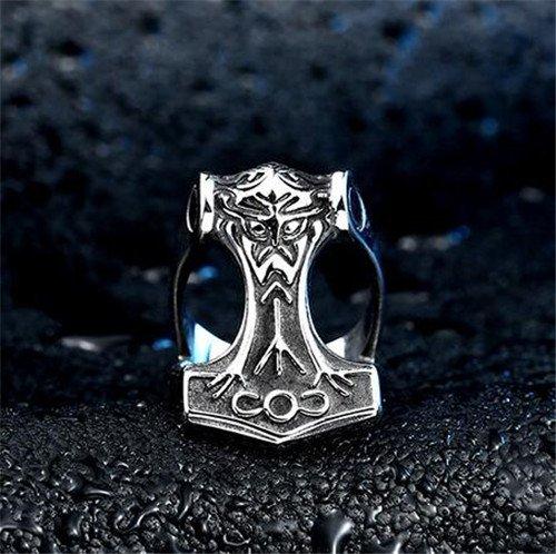 Norse Viking thor's hammer ring