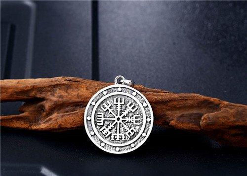 Nordic Viking compass Vegvisir pendant necklace