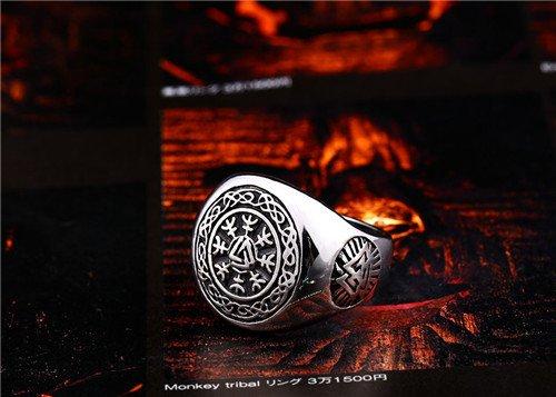 Nordic Viking compass symbol ring