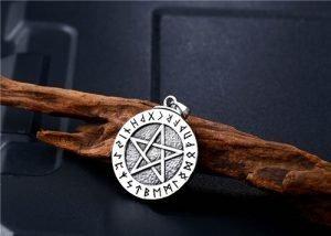 Viking Rune stainless steel necklace pendant