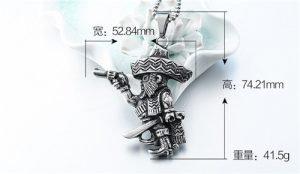 Pirate titanium steel necklace pendant