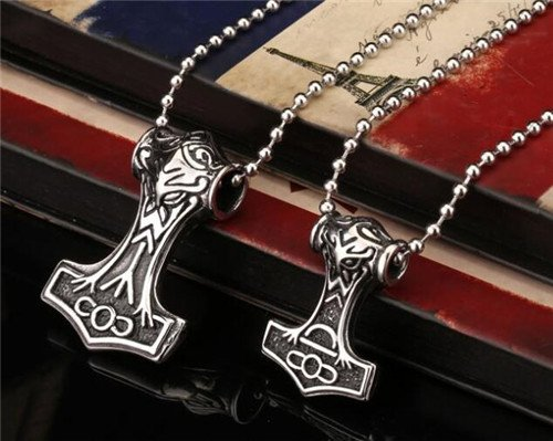 Nordic Viking thors hammer necklace pendant