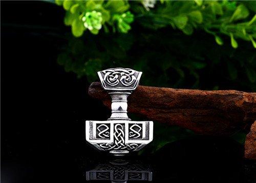 Viking Celtic knot Thor hammer pendant