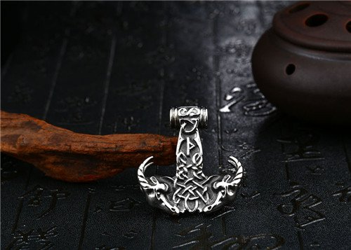 Viking stainless steel sheep necklace pendant