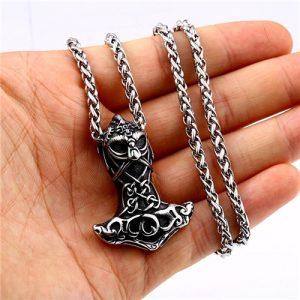 Celtic knot thor hammer pendant