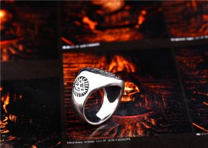 Nordic Viking compass symbol ring