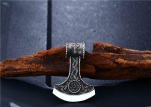 Triquetra Battle Axe necklace pendant