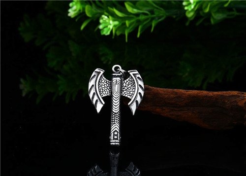 Viking stainless steel tomahawk axe necklace pendant