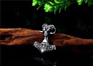 Viking Sheep Thor Hammer necklace pendant