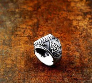 Viking vintage stainless steel ring