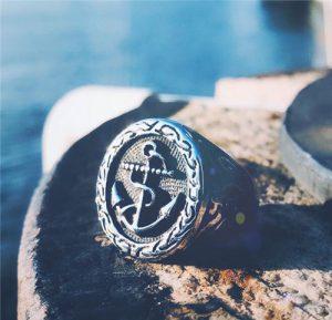 Pirate sailor anchor ring