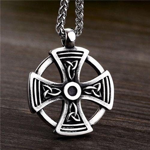 Celtic knot cross pendant