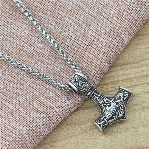 Viking Mjolnir Pendant Necklace
