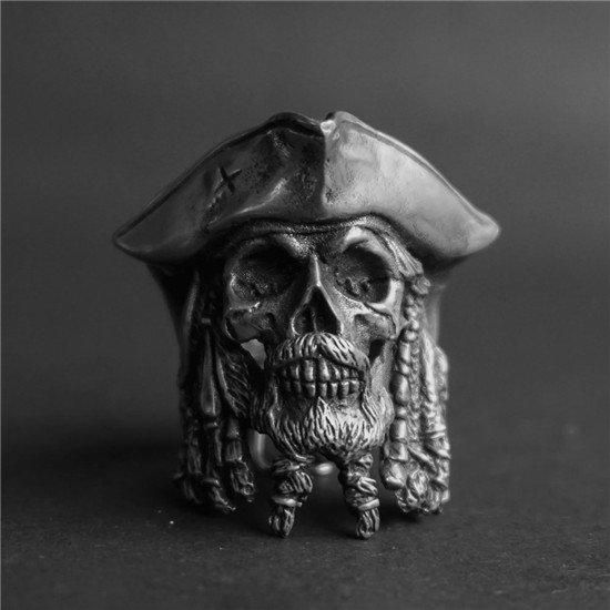 Pirate captain skull ring