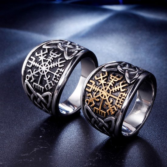 Vegvisir The Viking Compass Ring