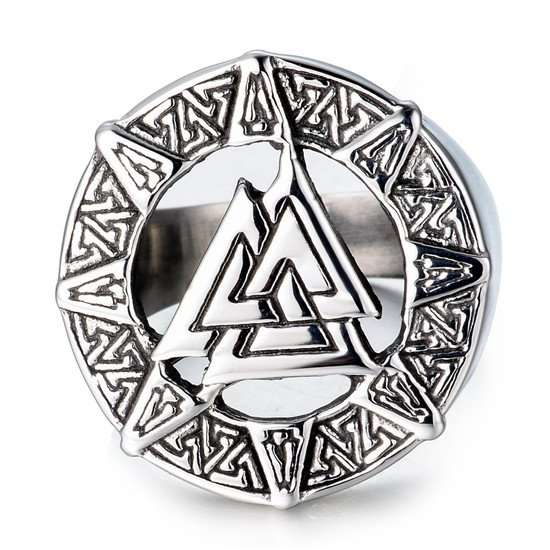 Viking valknut symbol ring