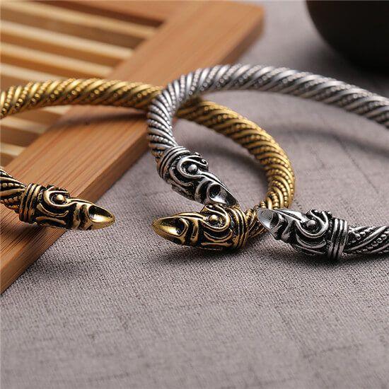 Viking raven arm ring bracelet