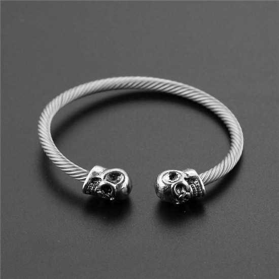 Viking skull arm ring