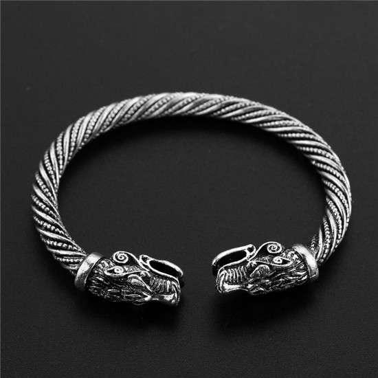 Viking dragon head bracelet