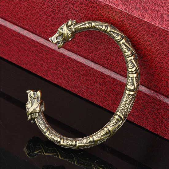 Viking bear head bracelet